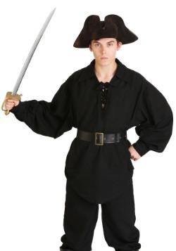 Camisa negra de pirata