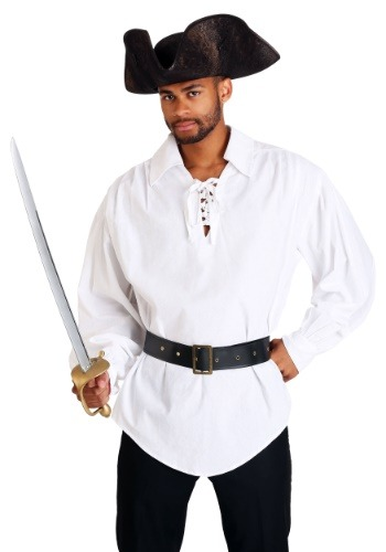 Falda de pirata blanca