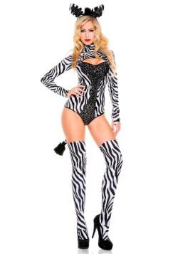 Disfraz de cebra sexy para mujer