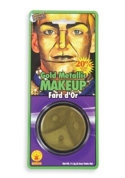 Maquillaje dorado metalizado para la cara