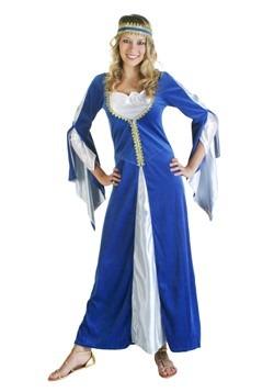 Disfraz de princesa renacentista azul
