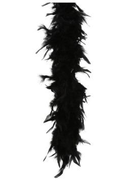 Boa de plumas negra de 80 gramos