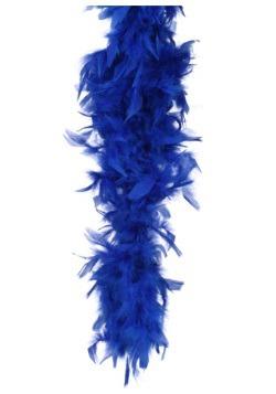 Boa de plumas azul marino de 80 gramos