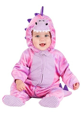 Disfraz de Dino rosado soñoliento infantil