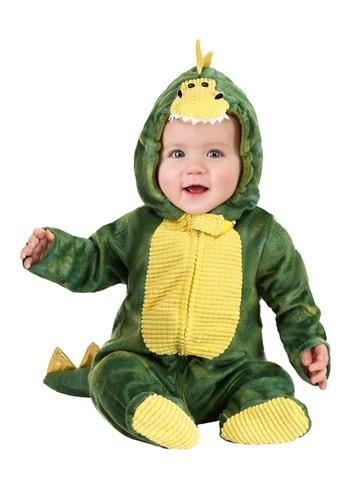 Disfraz verde de dino soñoliento para bebé