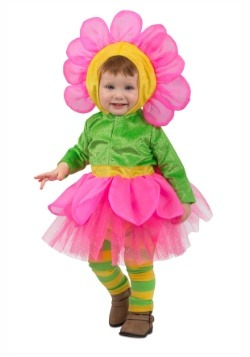 Traje de flores para niñas pequeñas