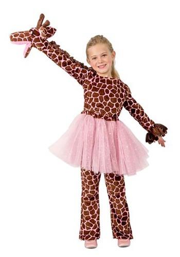 Disfraz de jirafa de marionetas de niña