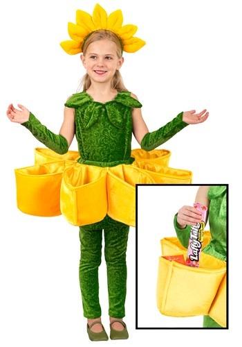 Disfraz de Colector de caramelos de pétalos de flores de niñ