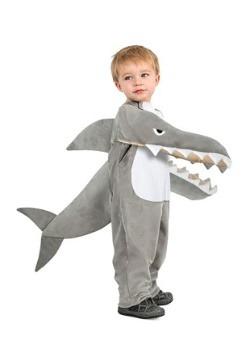 Traje de tiburón chomping infantil