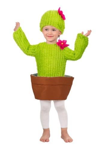 El niño agujerea el disfraz de Cactus