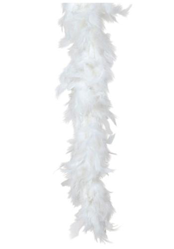 Boa de plumas blancas de 80 gramos