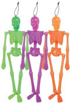 Esqueleto colgante de neón