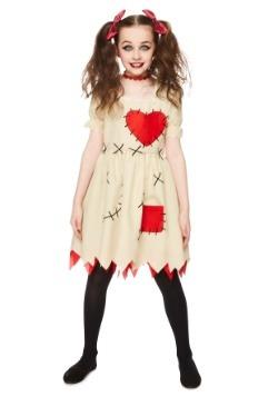 Disfraz de muñeca vudú para niñas