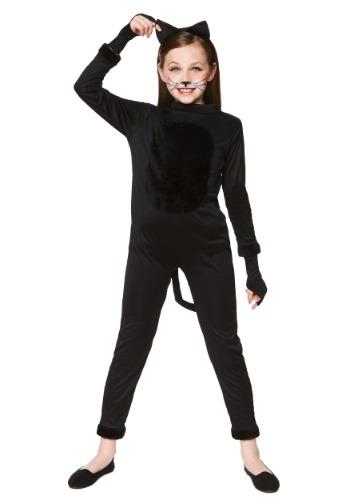 Disfraz de gato negro de niña