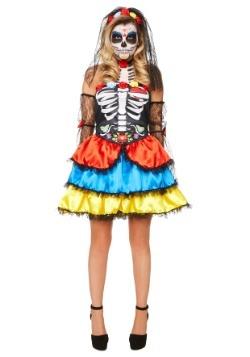 Disfraz de señorita del día de los muertos de las mujeres