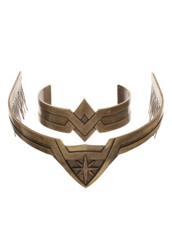 Set cosméticos de Wonder Woman Metal Tiara and Cuff Jewelry
