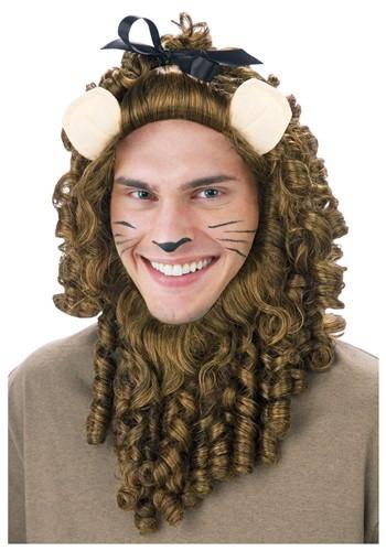 Peluca de león cobarde de lujo