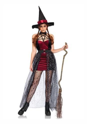 Disfraz de bruja celestial de mujer