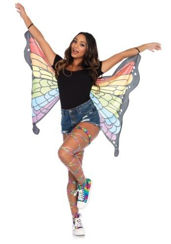 Pequeñas alas de mariposa del arco iris