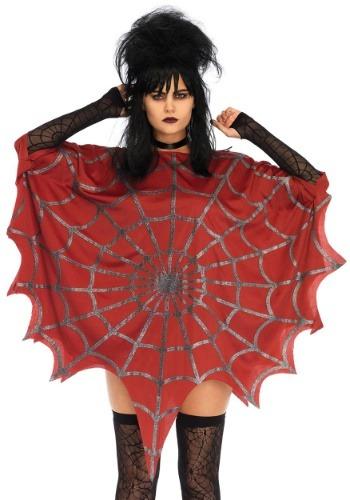 Poncho Web Glitter Rojo