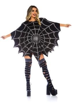 Poncho web negro brillo