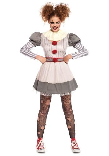 Disfraz de payaso espeluznante para mujer