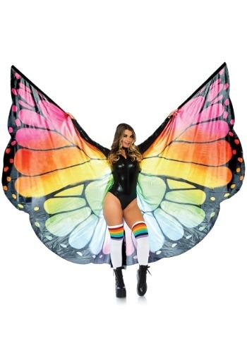 Alas de mariposa de arcoíris