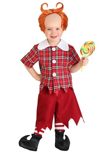Disfraz de Munchkin rojo para niños pequeños