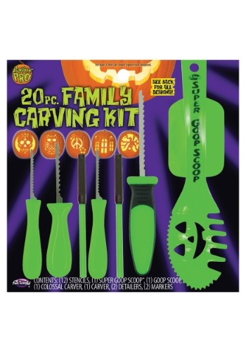 Kit de tallado para calabaza familiar de 20 piezas