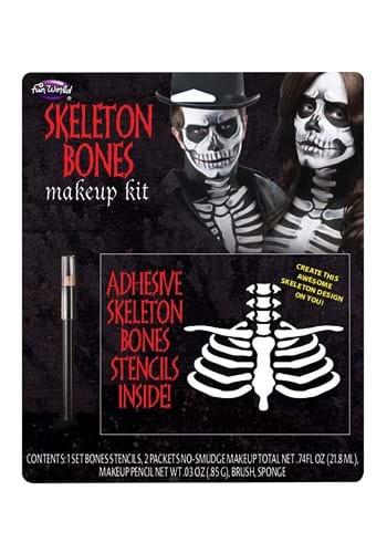 Kit de maquillaje de huesos de esqueleto