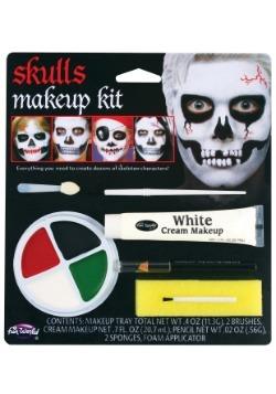 Kit de maquillaje de maquillaje de calavera infantil