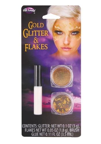 Brillantina y copos dorados