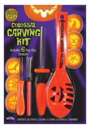 Kit de 10 piezas para tallar calabazas - Naranja
