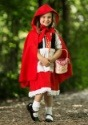 Disfraz de caperucita roja de lujo para niños1