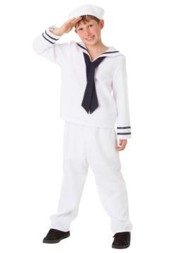 Disfraz infantil blanco de marinero