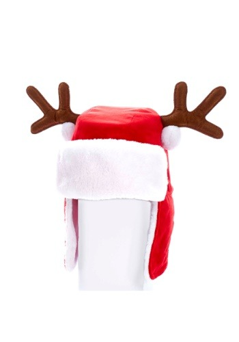 """Sombrero de felpa rojo de Navidad para 12 """"con astas 12"""""""