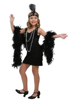Disfraz infantil estilo flapper negro