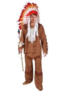 Disfraz de lujo de nativoamericano para hombre