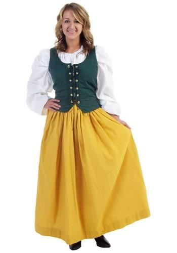Falda dorada de campesina