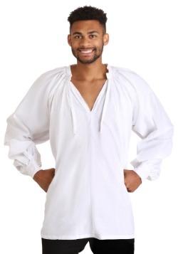 Camisa de campesino renacentista blanco