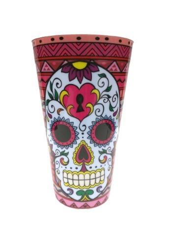 Vaso de fiesta rojo de Día de Muertos
