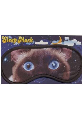 Máscara de sueño de cara de gato