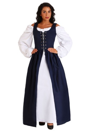 Vestido irlandés renacentista azul
