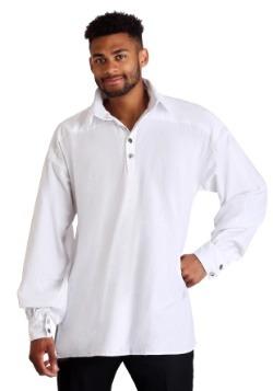 Camisa blanca renacentista para hombre