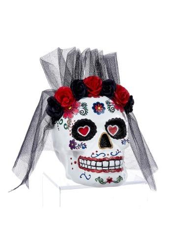 """11 """"Día de los Muertos Mrs. Skull Tablepiece Décor"""