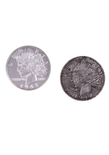 Réplica de propina de moneda de dos caras