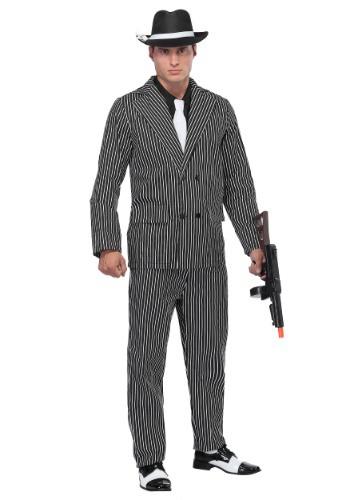 Disfraz de gángster con rayas anchas para hombre