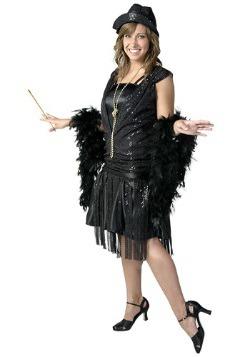 Disfraz de jazz flapper negro