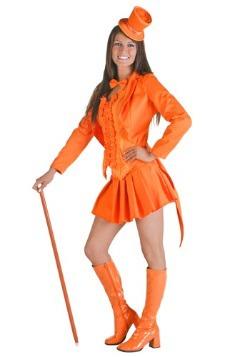 Disfraz de esmoquin naranja sexy