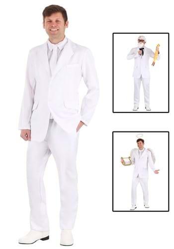 Disfraz de traje blanco para hombre